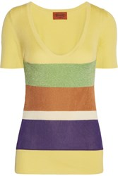 Missoni Ribbed Cotton Top Yellow
