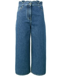 Valentino Cropped Jeans Women Cotton Polyester 25 Blue