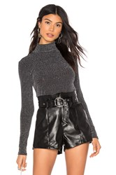 Krisa Turtleneck Long Sleeve Top Black