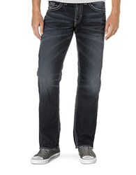 Silver Jeans Zac Dark Wash Straight Leg Blue