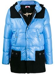 Bark Hooded Down Jacket Blue