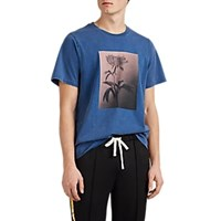 Ovadia And Sons Floral Cotton T Shirt Blue