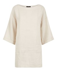 Jaeger Linen Split Detail Tunic White