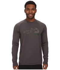 The North Face L S Class V Shirt Graphite Grey Men's Long Sleeve Pullover Gray