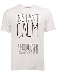 Undercover 'Instant Calm' Print T Shirt White