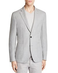Hardy Amies Textured Solid Slim Fit Sport Coat Light Gray