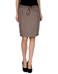 Ajay Knee Length Skirts Khaki