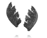 Stephen Webster Magniphesant Pave Feather Earrings Black