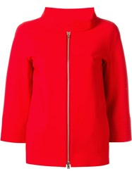 Herno Three Quarters Sleeve Jacket Red