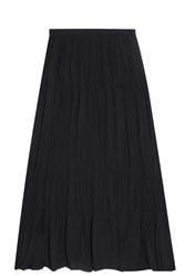 Elizabeth And James Tiered Maxi Skirt Black