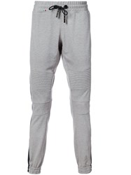 Philipp Plein Motorcycle Sweatpants Men Cotton Spandex Elastane M Grey