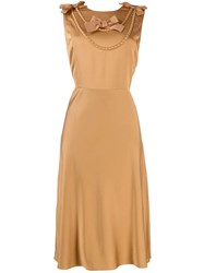 Boutique Moschino Bow Detail Dress Neutrals