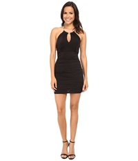 Gabriella Rocha Choker Necklace Banded Dress Black Gold Women's Dress