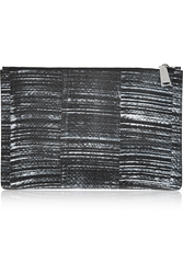 Jil Sander Large Printed Elaphe Clutch