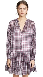 The Great Great. Timber Dress Mulberry Plaid