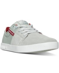 Supra Men's Stacks Ii Casual Sneakers From Finish Line Light Grey Red White