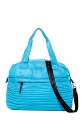 Steve Madden Wilty Quilted Nylon Duffle Blue