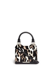 Jimmy Choo 'Amie' Small Camouflage Print Pony Hair Tote Animal Print Multi Colour