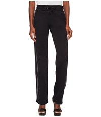 Red Valentino Jersey Track Pants Black Women's Casual Pants