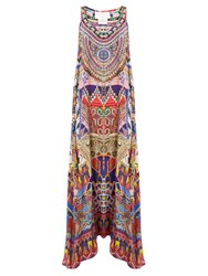 Camilla Dream Weavers Print Silk Crepe De Chine Dress Red Multi