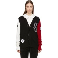 Opening Ceremony Black Wool Varsity Cardigan