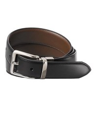 Lauren Ralph Lauren Square Nose Buckle Reversible Belt Black Brown