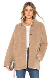 Velvet By Graham And Spencer Albany Lux Faux Sherpa Jacket Tan