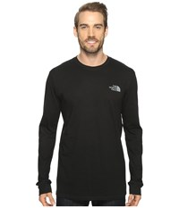 The North Face Long Sleeve Red Box Tee Tnf Black Heat Map Print Men's Long Sleeve Pullover