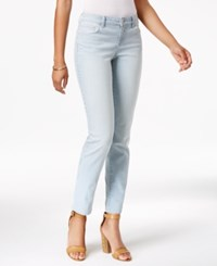 Styleandco. Style Co. Petite Striped Platform Wash Slim Leg Jeans Only At Macy's