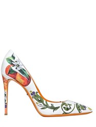 Dolce And Gabbana 105Mm Kate Ceramica Orange Patent Pumps