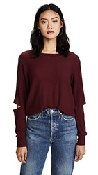 Lna Brushed Odeon Sweatshirt Windsor Wine