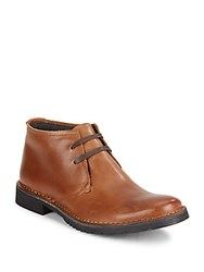 John Varvatos Star D Leather Chukka Boots Brownstone