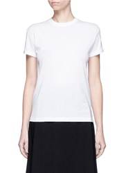 Alexander Wang Roll Sleeve Cotton T Shirt White