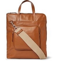 Maison Martin Margiela Leather Tote Bag Tan
