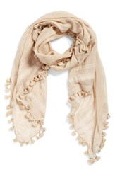 Women's La Fiorentina Cotton And Silk Scarf Beige