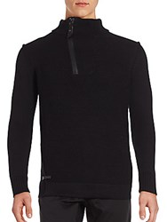 Projek Raw Long Sleeve Cotton Pullover Black
