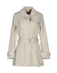 K Way Overcoats Light Grey
