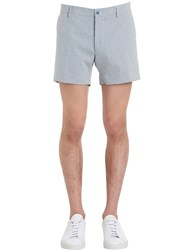 Berwich Cotton Seersucker Shorts