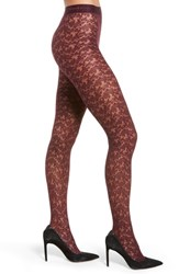 Donna Karan New York Signature Collection Lace Tights Claret