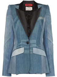 Ronald Van Der Kemp Smoking Denim Blazer Blue