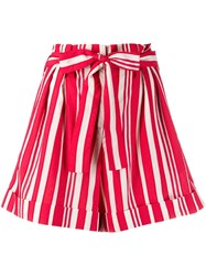 Chinti And Parker Striped Shorts Red