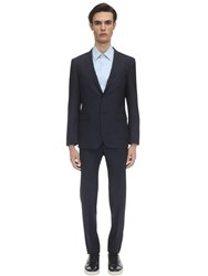 Tonello Single Breast Stretch Wool Blend Suit Navy