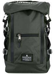 Makavelic Double Line Backpack Polyester Grey