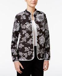 Alfred Dunner Reversible Quilted Jacket Multi
