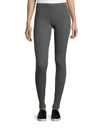 Theory Birdi Evian Stretch Thermal Knit Pants Gray Melange