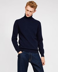 Aspesi Wool Yak Cashmere Sweater Navy Blue