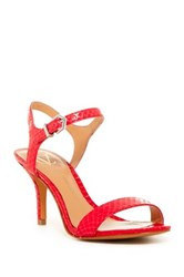 Vc Signature Noah Snake Embossed Ankle Strap Pump Red