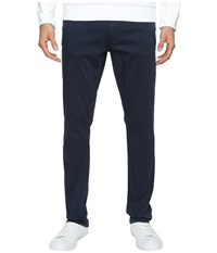 Calvin Klein Jeans Slim Straight Stretch Sateen Pants Navy Storm Men's Casual Pants