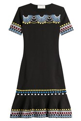 Peter Pilotto Intarsia Knit Dress Black