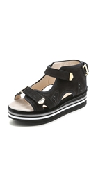 Preen Low Tonika Sandals Black